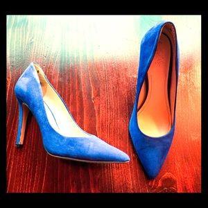 Vince Camuto Suede Pumps - Cobalt Blue